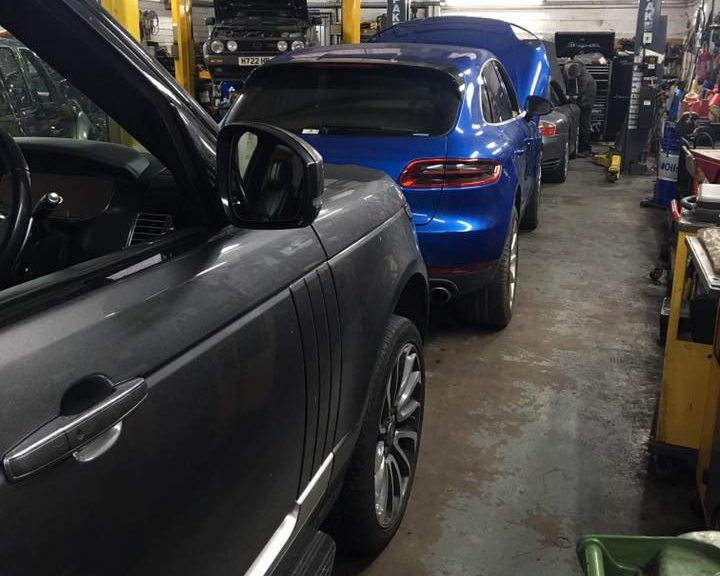 cars in garage